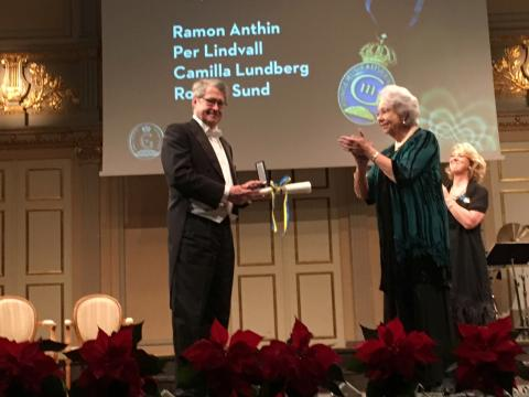 Ramon Anthin receives the Medaljen för Tonkonstens Främjande